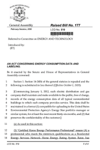 ENERGY CONSUMPTION DATA AND LABELING