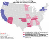 Advancing or prohibiting gas bans and electrification codes