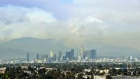Plume of smoke from Wildfires