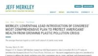 CCR MERKLEY, LOWENTHAL LEAD INTRODUCTION OF CONGRESS' MOST COMPREHENSIVE PLAN TO PROTECT AMERICANS