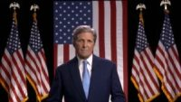 John Kerry and flags