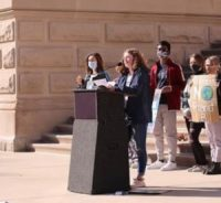 Annabel Prokopy speaking at the Statehouse