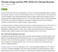CCR Climate change and the 1991-2020 U.S. Climate Normals