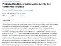 CCR Projected land ice contributions to twenty-first-century sea level rise