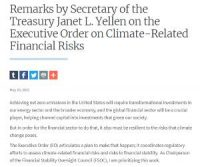 CCR Remarks by Secretary of the Treasury Janet L. Yellen on the Executive Order on Climate-Related Financial Risks