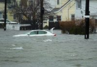 A coastal storm in March 2018 flooded most of Quincy's Houghs Neck neighbourhood for several days.