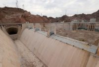 A spillway at Hoover Dam has been dry for years, as a result of the low level of Lake Mead