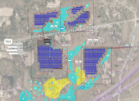 Aerial View of Solar Project