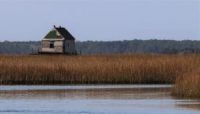 An abandoned house in the salt marshes