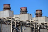 Coal Stacks At The Now Closed Potomac River Generating Station In Alexandria