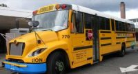 CCR Electric school bus fleet in NY State. Lion Electric buses will be used also as power storage unit