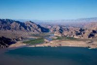 Sandy Point , The beginning of the lake Mead