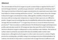 CCR Widespread deoxygenation of temperate lakes