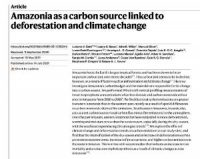CCR Amazonia as a carbon source linked to deforestation and climate change