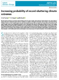 CCR Increasing probability of record-shattering climate extremes