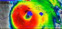 Satellite images showing Hurricane Laura Approaching