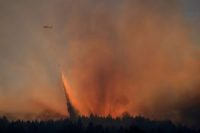 The Glass Fire burning in the Bothe-Napa Valley State Park near Calistoga, Calif,