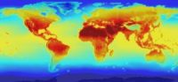 The climate change map