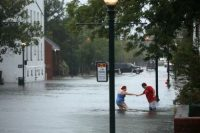 People in a flood
