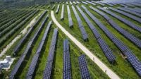 A solar power plant in Shaanxi province, China