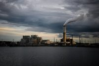 Emissions rise from a coal-fired power plant in Arden, N.C., in 2018.