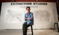 Lucienne Rickard's Extinction Studies project finished at the Tasmanian Museum and Art Gallery on Sunday