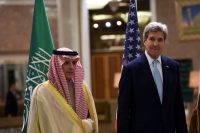 John Kerry and the Saudi Minister of Foreign Affairs
