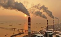 A coal plant in Nantong in China, which is responsible for more than half of the world's coal plant plans