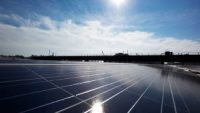 A rooftop is covered with solar panels at the Brooklyn Navy Yard, Tuesday, Feb. 14, 2017, in New York.
