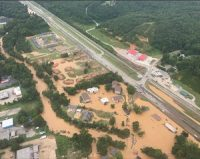 Aerial view of flooding in Waverly, Tenn., in late August. (Nashville Fire Department)