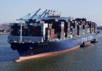 In this June 30, 2021 file photo a container ship leaves the Port of New York and New Jersey in Elizabeth, N.J.
