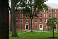 The Harvard University campus in Cambridge, Mass., in July 2020